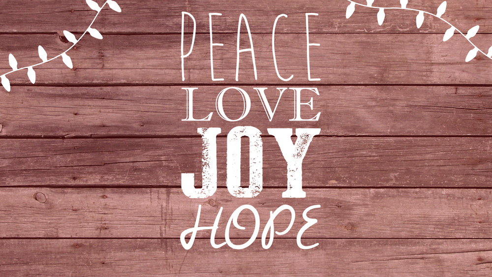 Belonging to Love, Joy, Peace & Hope